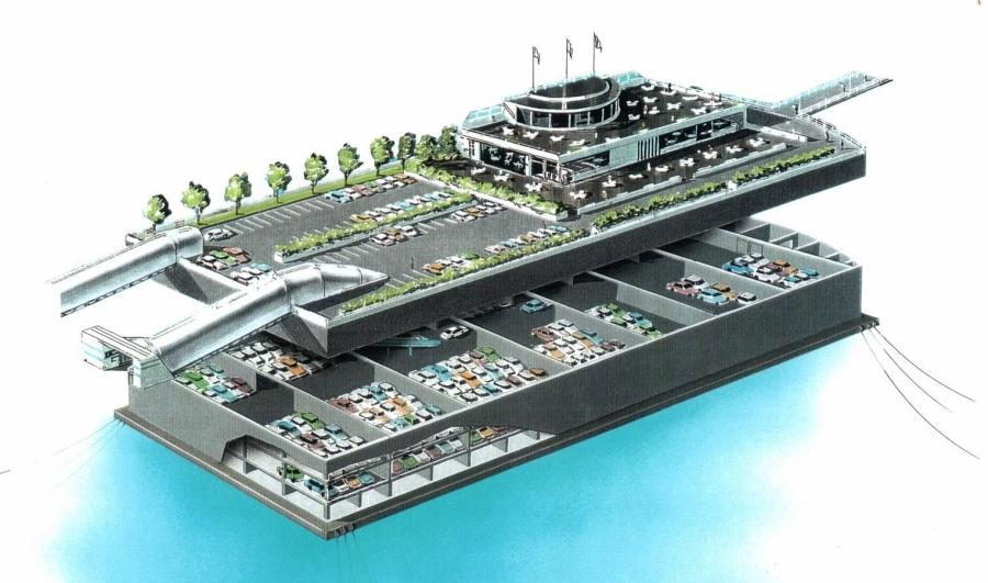 Car park layout. Floating Car Park   Storage   Floatcon AS